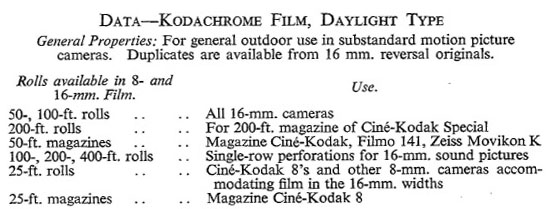 Kodachrome | Timeline of Historical Film Colors