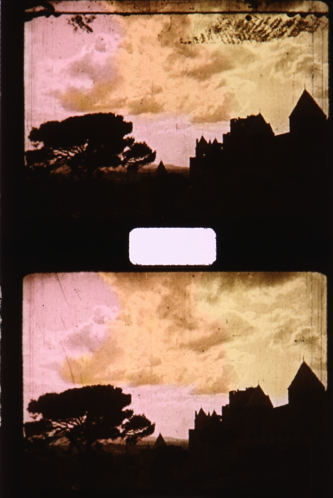 Stencil Colored Pathé Baby 9.5mm Film
