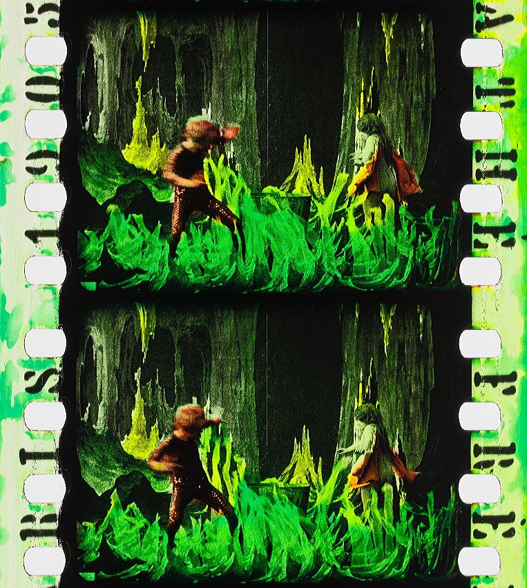 eb396788b1903d L Antre infernal (1905)   Timeline of Historical Film Colors