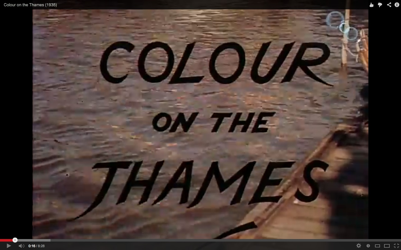 Colour On The Thames 1936 Timeline Of Historical Film Colors