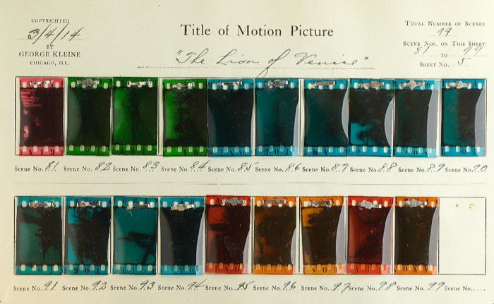 0ebb38875374 Il leone di Venezia (1914)   Timeline of Historical Film Colors