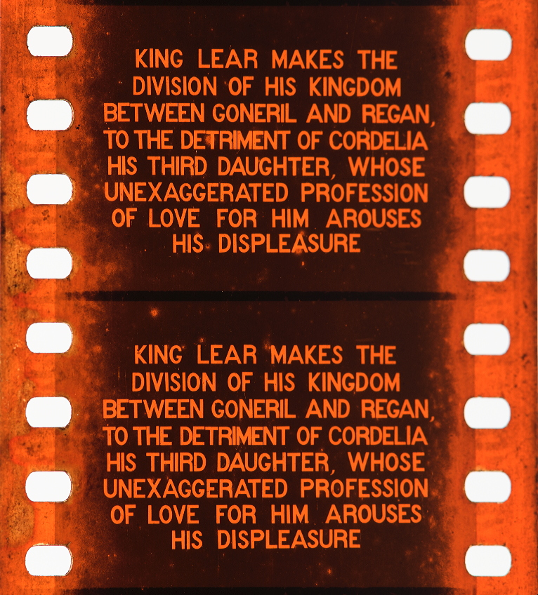 Re Lear 1910 Timeline Of Historical Film Colors